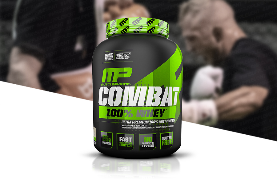 MusclePharm Combat 100% Whey Muscle-Building Whey Protein Powder